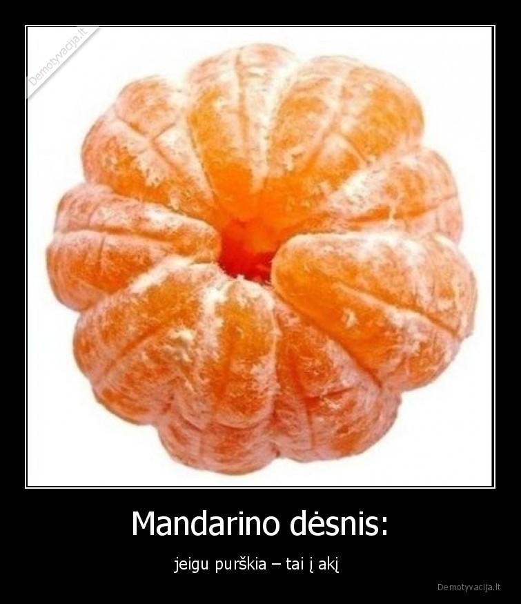 Mandarino desnis jeigu purskia tai i aki