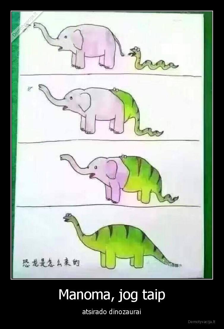 Manoma jog taip atsirado dinozaurai