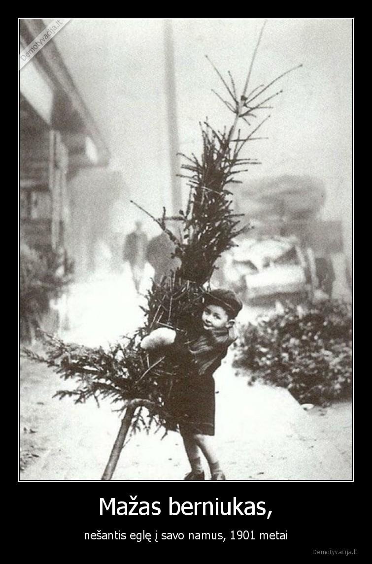 Mazas berniukas nesantis egle i savo namus 1901 metai
