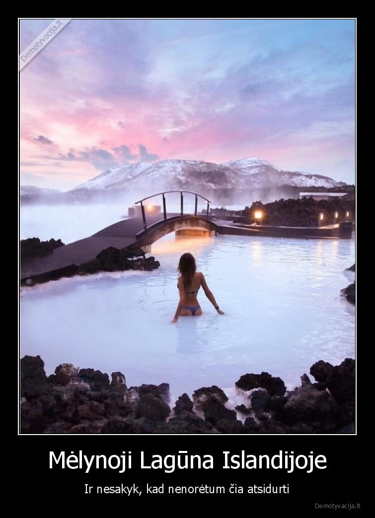 Melynoji Laguna Islandijoje Ir nesakyk kad nenoretum cia atsidurti
