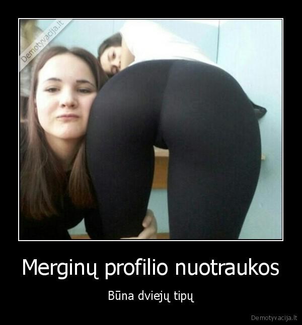 Merginu profilio nuotraukos Buna dvieju tipu