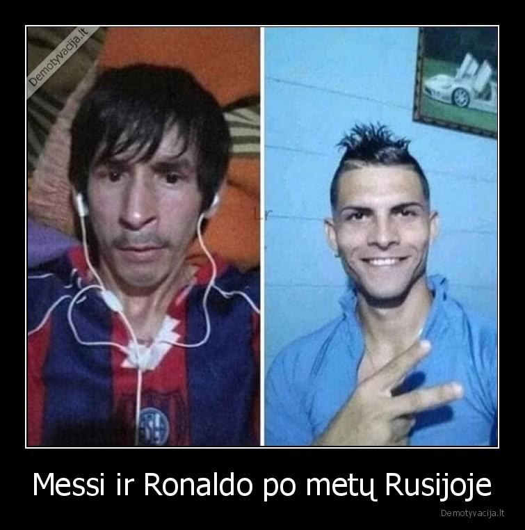Messi ir Ronaldo po metu Rusijoje