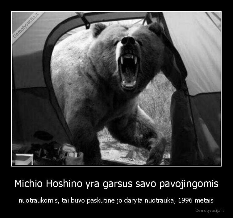 Michio Hoshino yra garsus savo pavojingomis nuotraukomis tai buvo paskutine jo daryta nuotrauka 1996 metais