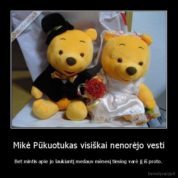 Mike Pukuotukas visiskai nenorejo vesti Bet mintis apie jo laukianti medaus menesi tiesiog vare ji is proto