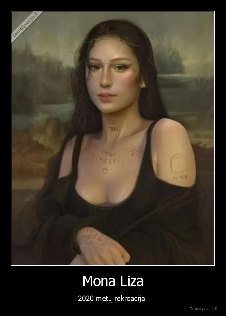 Mona Liza 2020 metu rekreacija