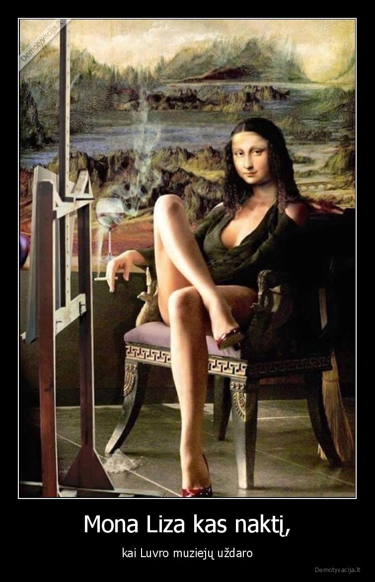 Mona Liza kas nakti kai Luvro muzieju uzdaro