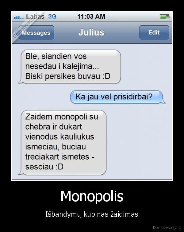 Monopolis Isbandymu kupinas zaidimas