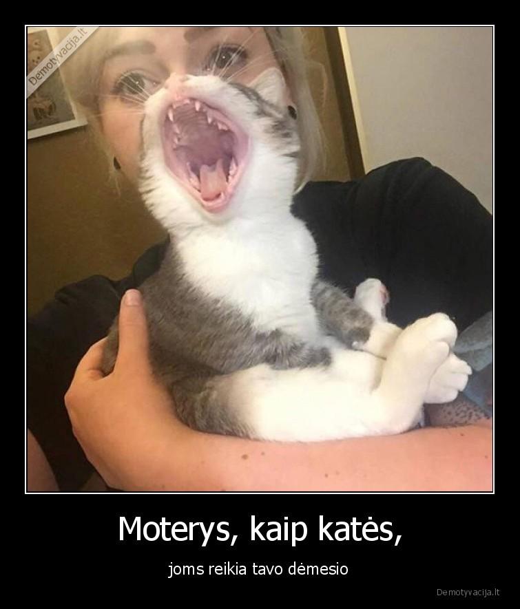 Moterys kaip kates joms reikia tavo demesio