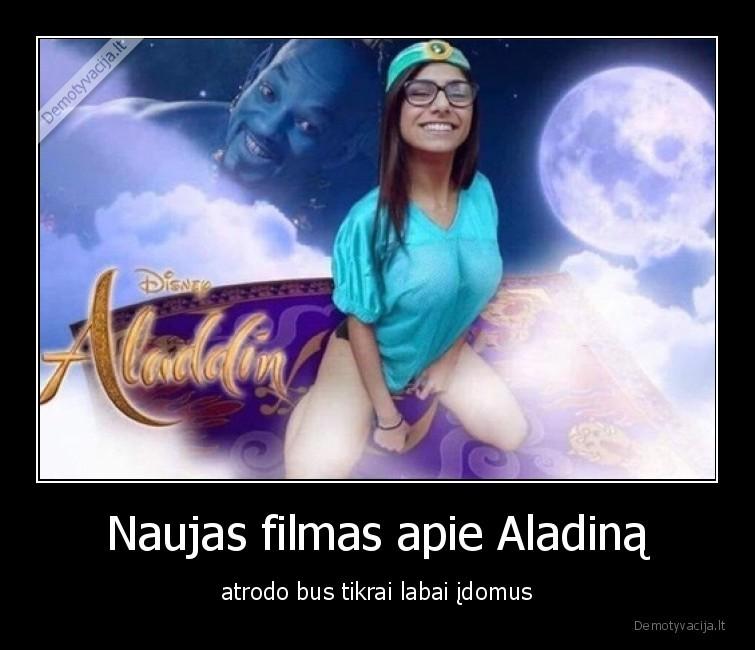 Naujas filmas apie Aladina atrodo bus tikrai labai idomus