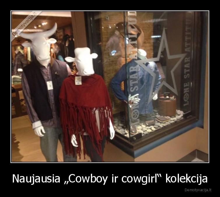 Naujausia Cowboy ir cowgirl kolekcija