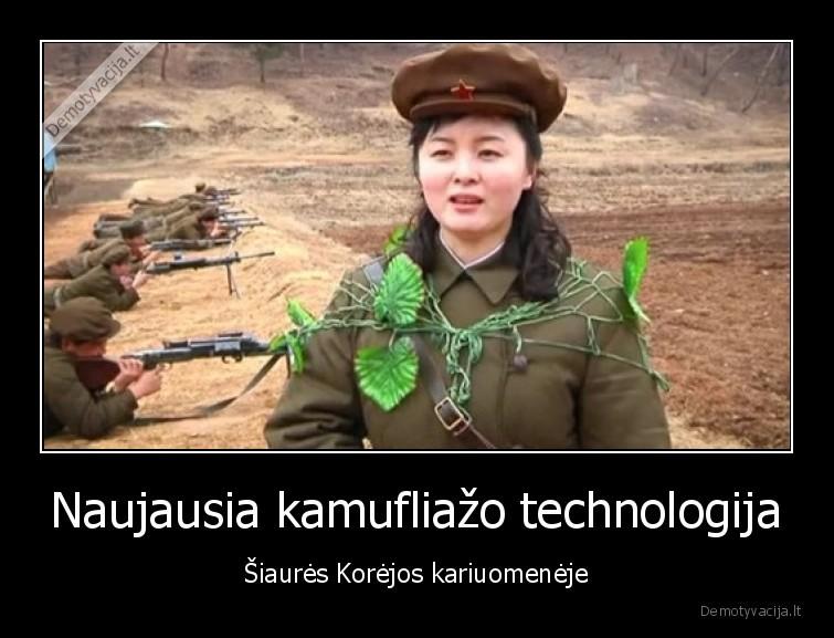 Naujausia kamufliazo technologija siaures Korejos kariuomeneje