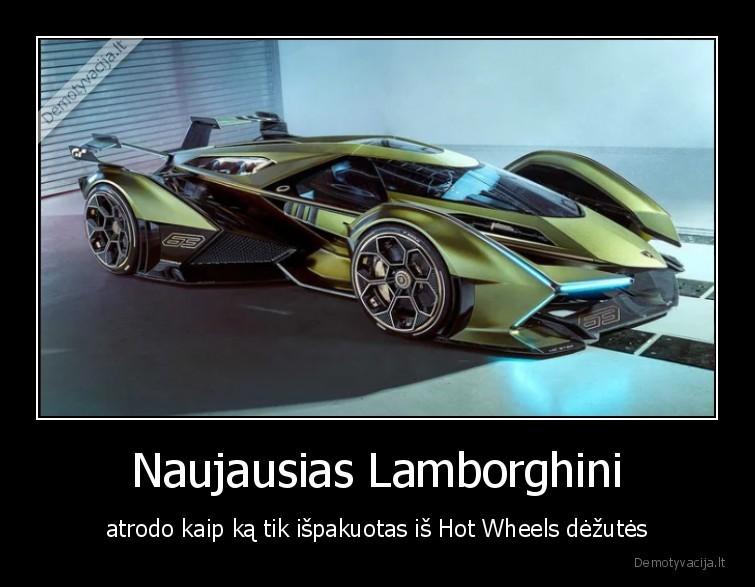 Naujausias Lamborghini atrodo kaip ka tik ispakuotas is Hot Wheels dezutes
