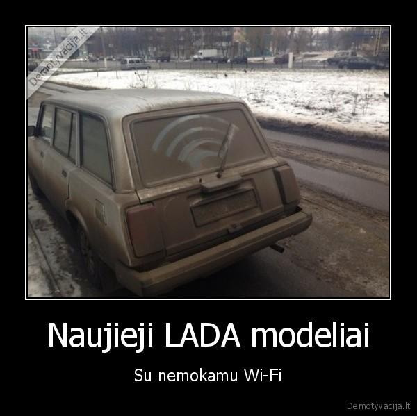 Naujieji LADA modeliai Su nemokamu Wi Fi