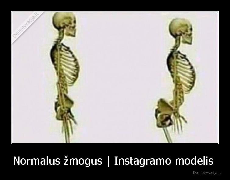 Normalus zmogus Instagramo modelis