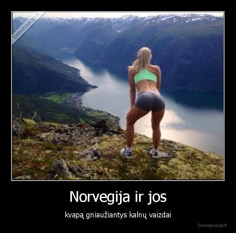 Norvegija ir jos kvapa gniauziantys kalnu vaizdai