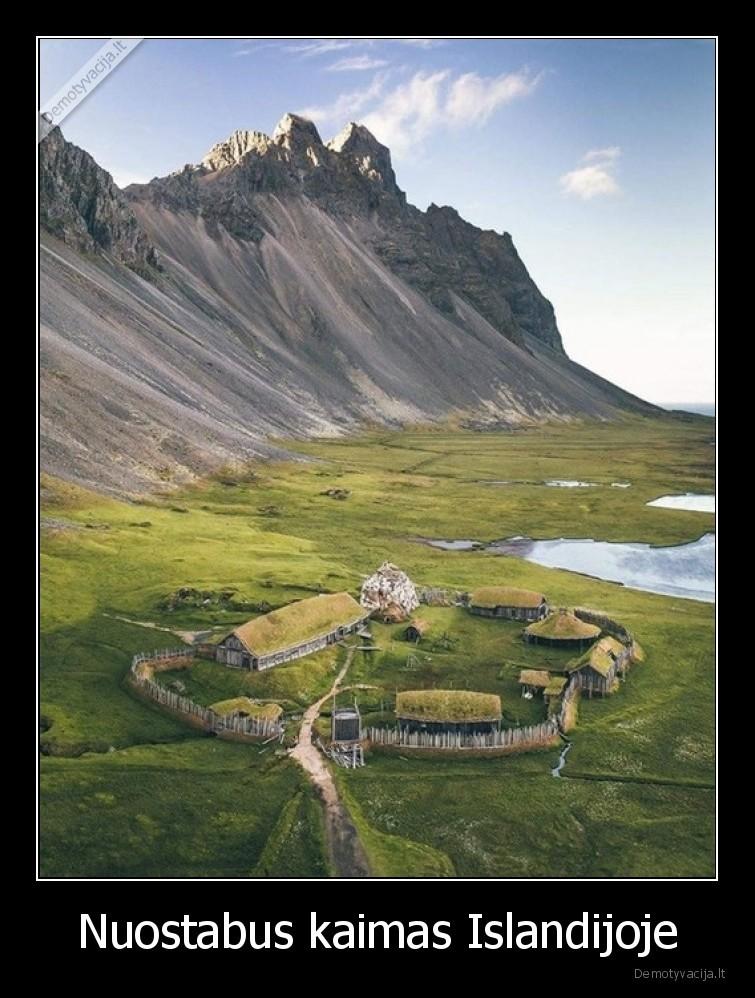 Nuostabus kaimas Islandijoje