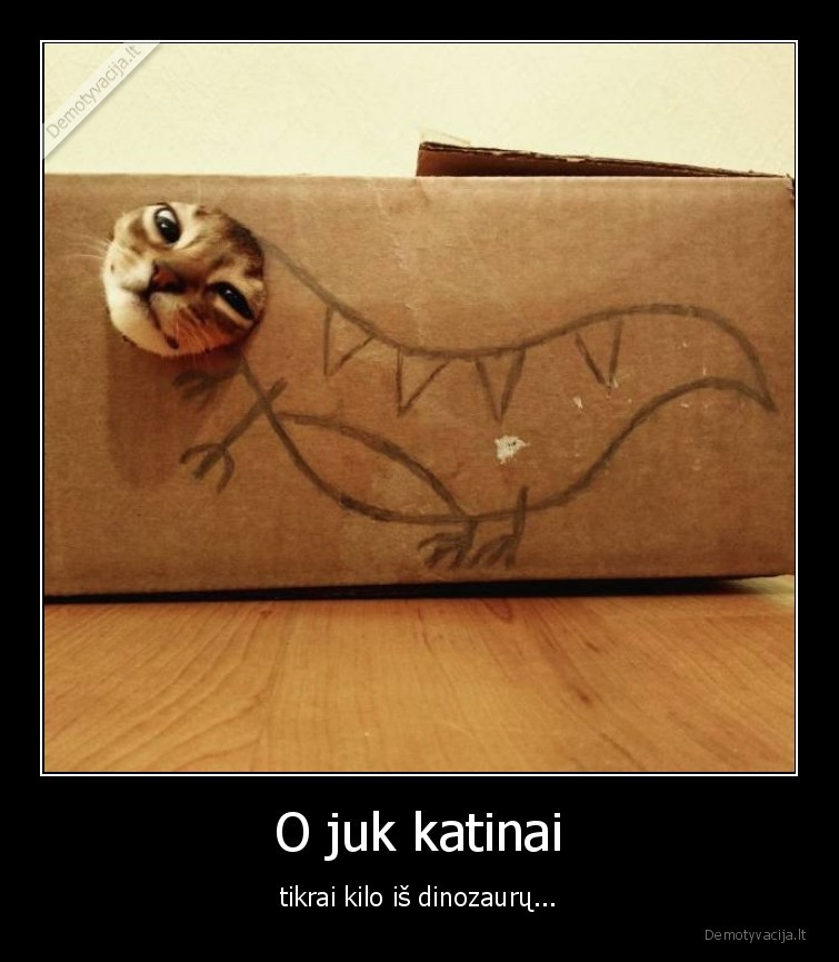 O juk katinai tikrai kilo is dinozauru