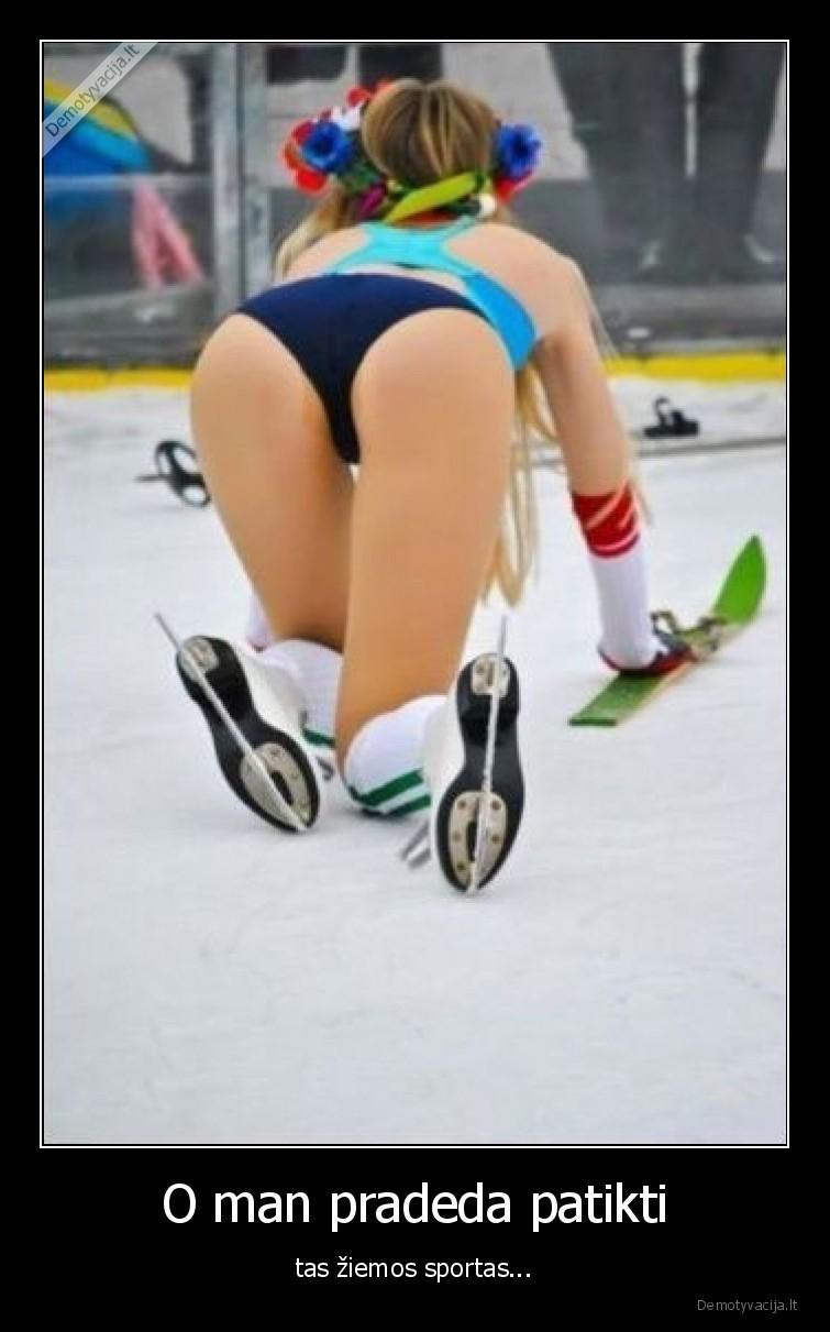 O man pradeda patikti tas ziemos sportas