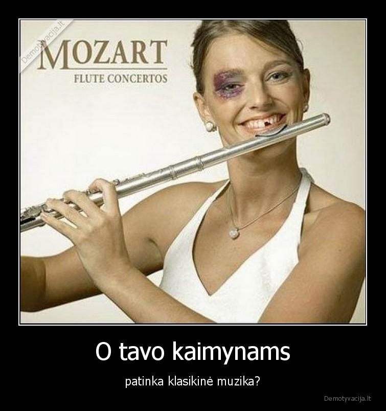 O tavo kaimynams patinka klasikine muzika