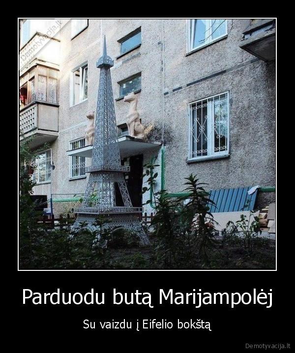Parduodu buta Marijampolej Su vaizdu i Eifelio boksta