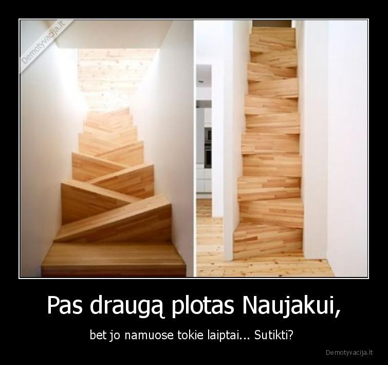 Pas drauga plotas Naujakui bet jo namuose tokie laiptai... Sutikti