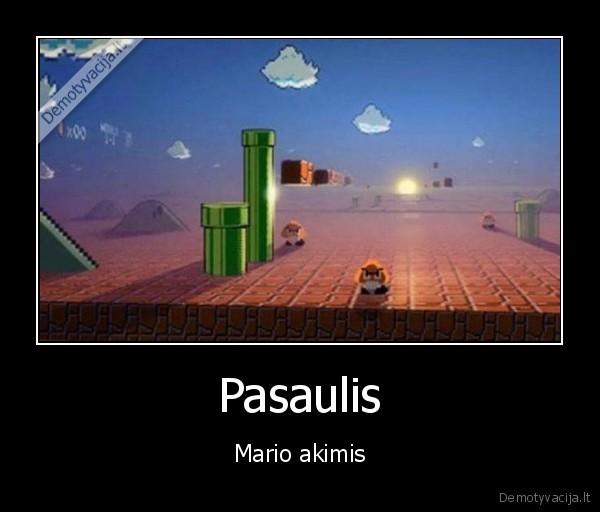 Pasaulis Mario akimis