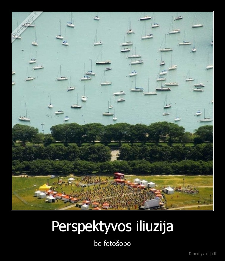 Perspektyvos iliuzija be fotosopo