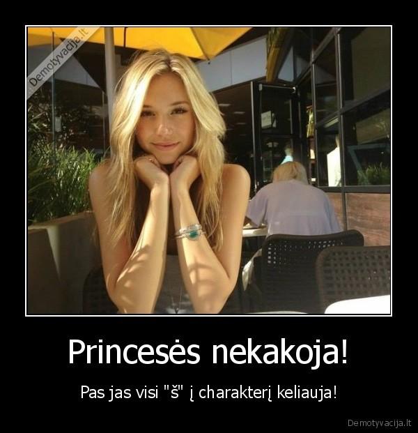 Princeses nekakoja Pas jas visi s i charakteri keliauja
