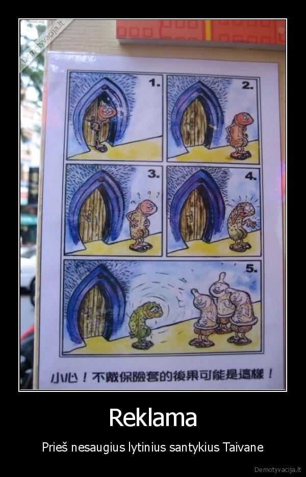 Reklama Pries nesaugius lytinius santykius Taivane