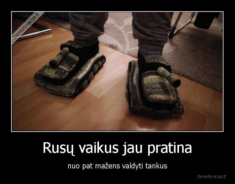 Rusu vaikus jau pratina nuo pat mazens valdyti tankus