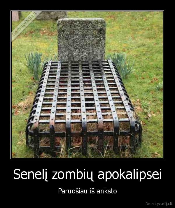 Seneli zombiu apokalipsei Paruosiau is anksto