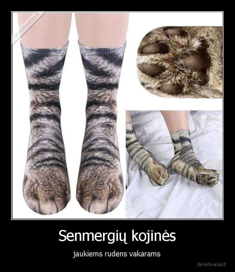 Senmergiu kojines jaukiems rudens vakarams