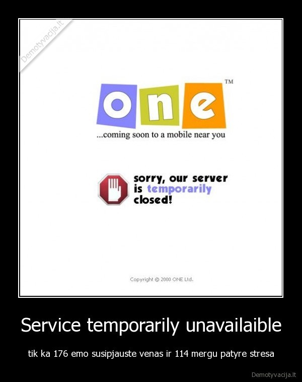 Service temporarily unavailaible