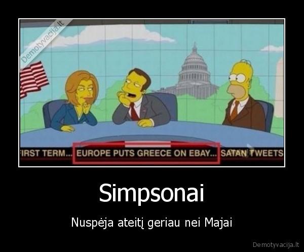 Simpsonai Nuspeja ateiti geriau nei Majai