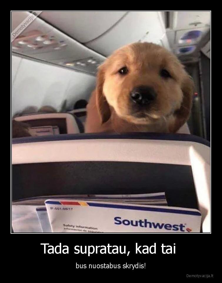 Tada supratau kad tai bus nuostabus skrydis