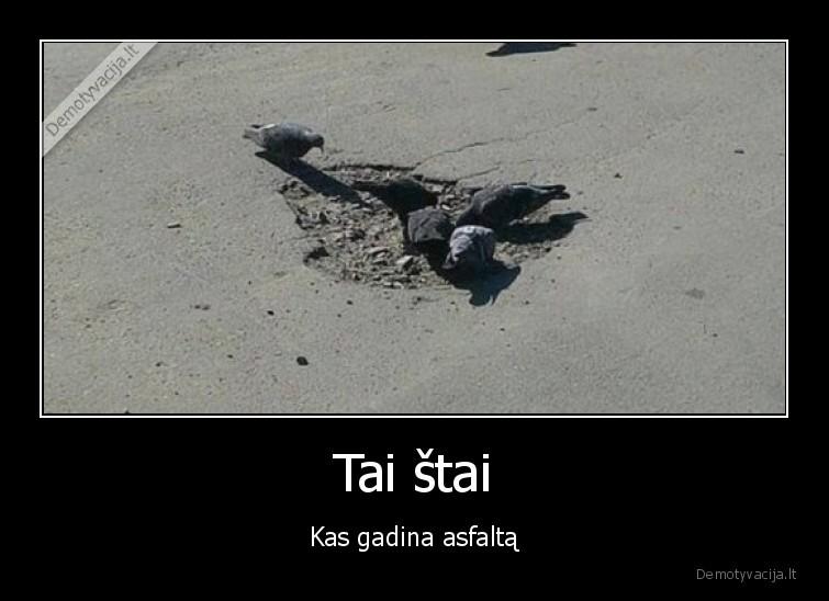 Tai stai Kas gadina asfalta