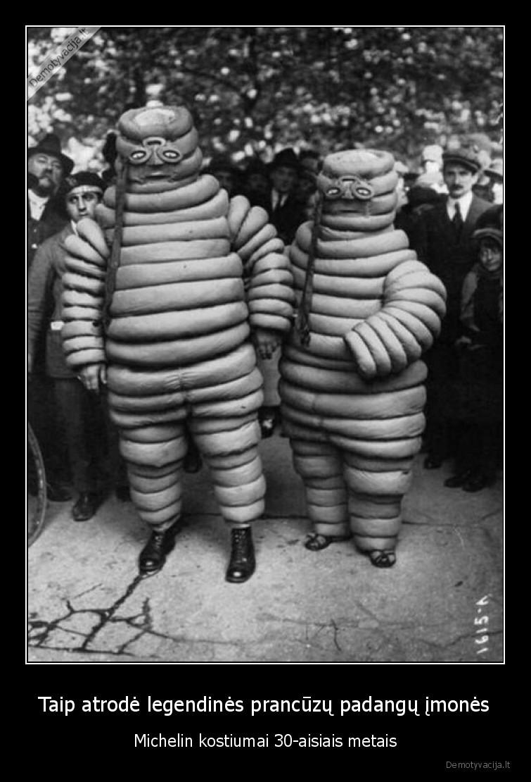 Taip atrode legendines prancuzu padangu imones Michelin kostiumai 30 aisiais metais