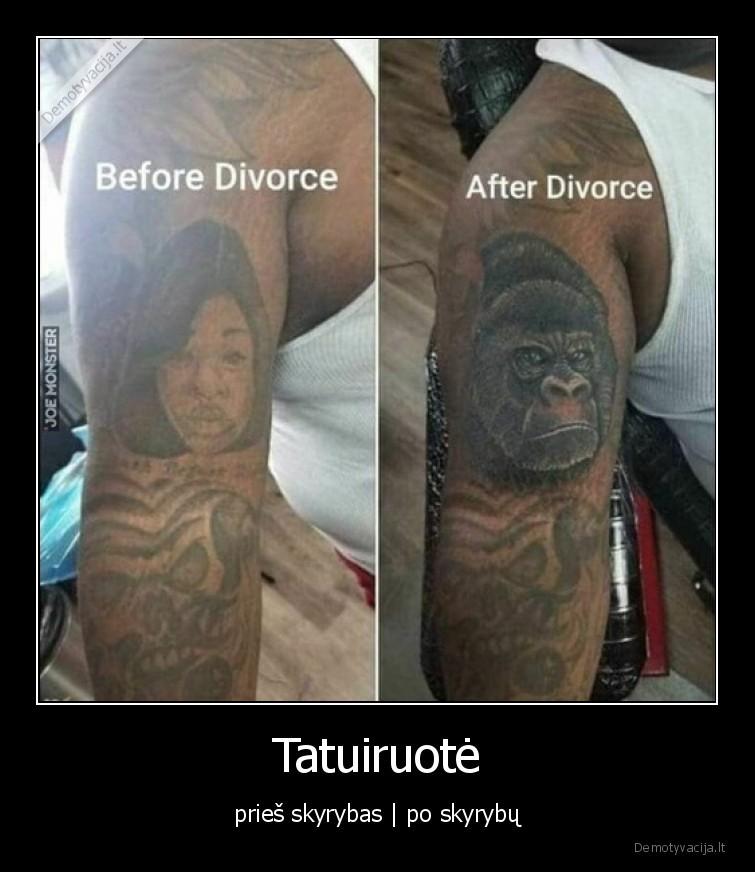 Tatuiruote pries skyrybas po skyrybu