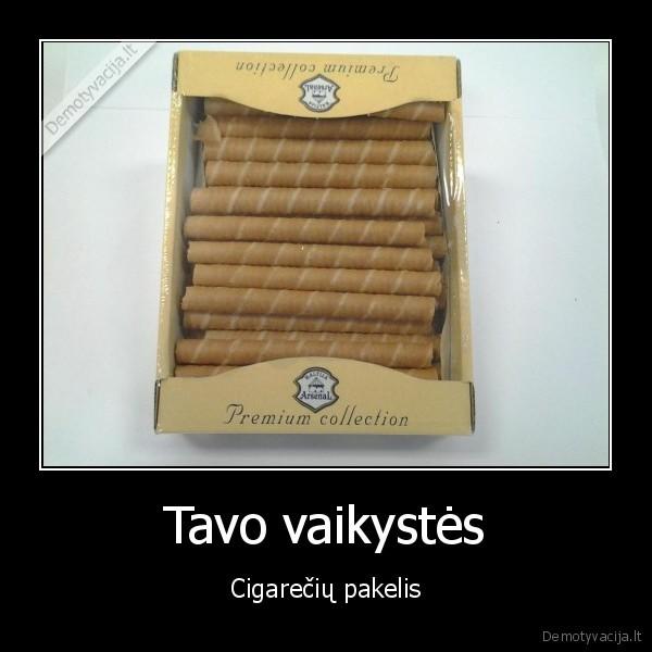 Tavo vaikystes Cigareciu pakelis