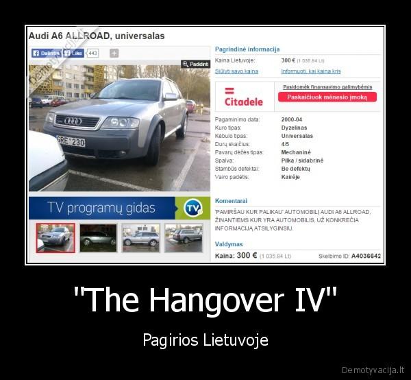 The Hangover IV Pagirios Lietuvoje
