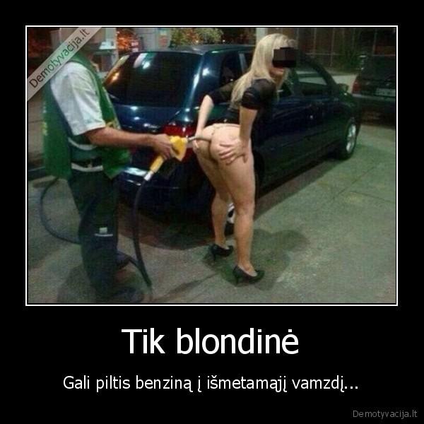 Tik blondine Gali piltis benzina i ismetamaji vamzdi