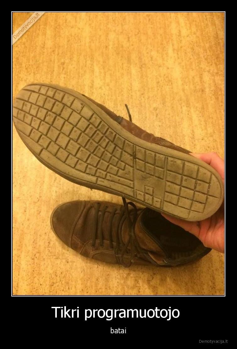 Tikri programuotojo batai