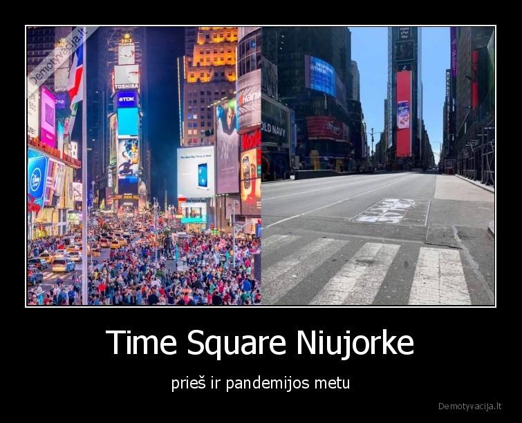 Time Square Niujorke pries ir pandemijos metu
