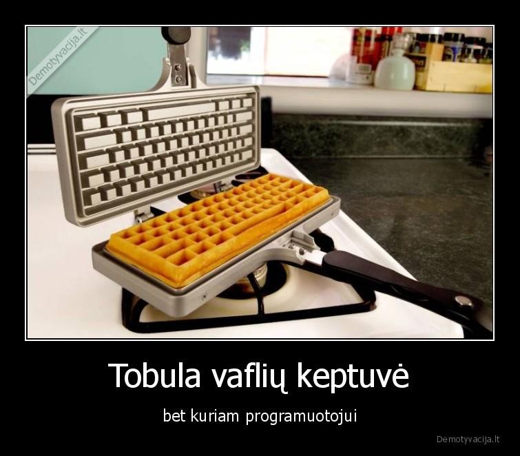 Tobula vafliu keptuve bet kuriam programuotojui