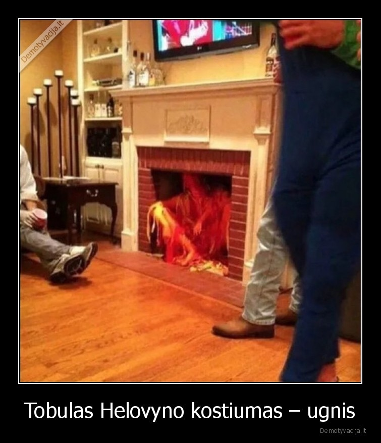 Tobulas Helovyno kostiumas ugnis