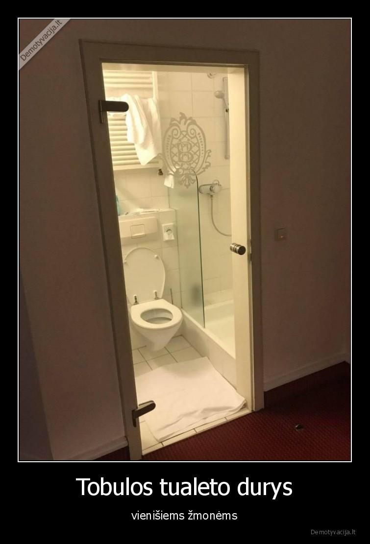 Tobulos tualeto durys vienisiems zmonems