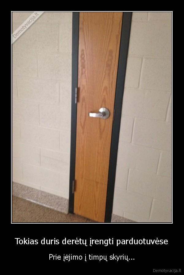 Tokias duris deretu irengti parduotuvese Prie iejimo i timpu skyriu