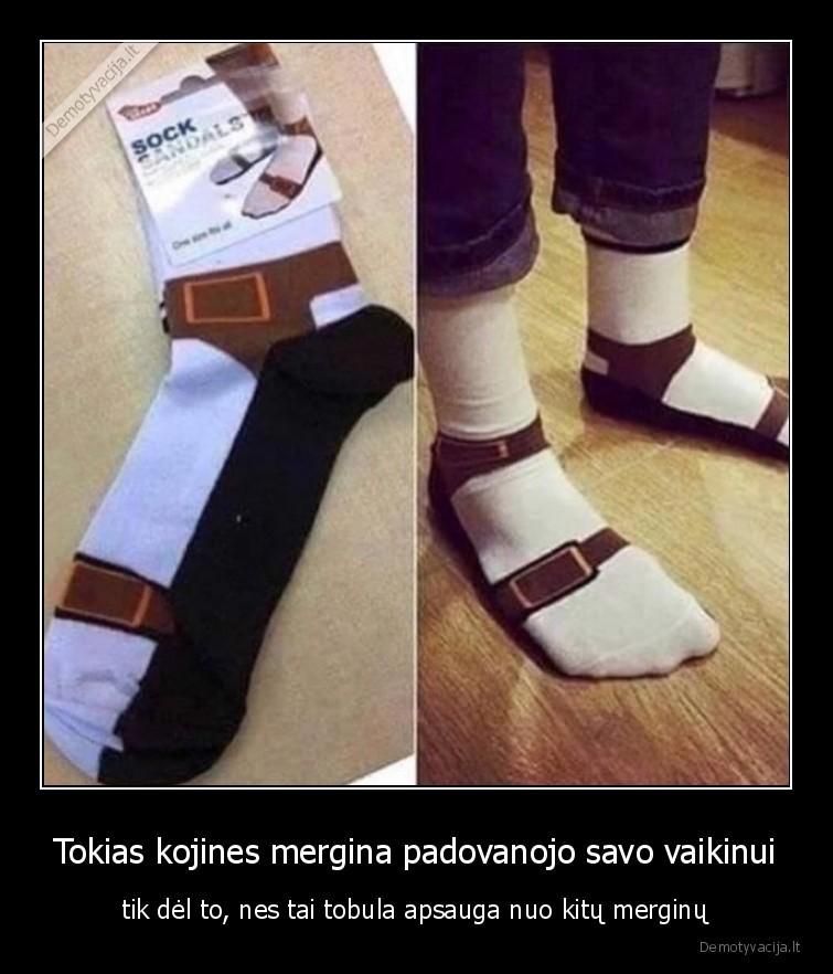 Tokias kojines mergina padovanojo savo vaikinui - tik dėl to, nes tai tobula apsauga nuo kitų merginų.