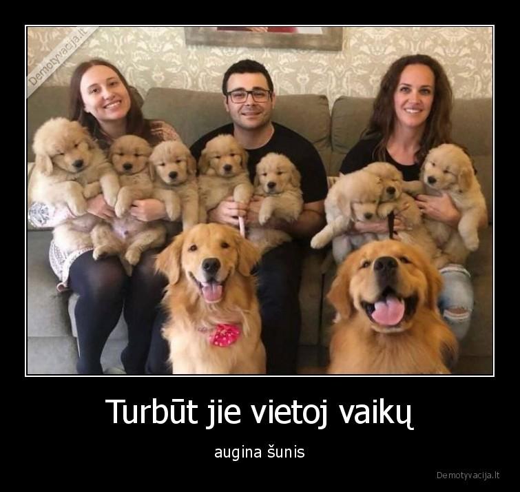 Turbut jie vietoj vaiku augina sunis