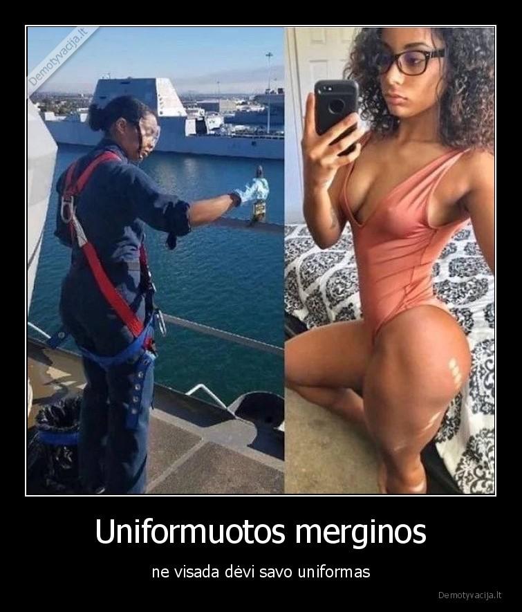 Uniformuotos merginos ne visada devi savo uniformas
